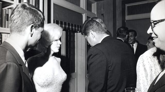 Marilyn Monroe, John Fitzgerald Kennedy e Robert Kennedy - 1962 - Madison Square Garden