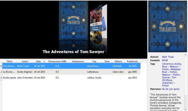 Calibre - ottieni libri - Tom Sawyer