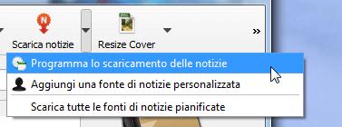 Calibre_Scarica_notizie_programma