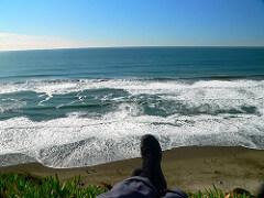 feet beach waves photo