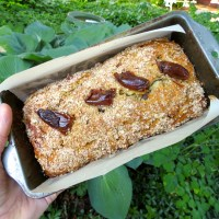 Old-Fashioned Date and Nut Bread, Sparrows and Poppies