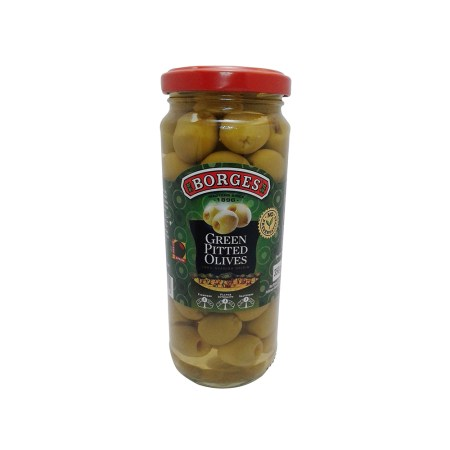 Borges Pitted Green Olives 340g