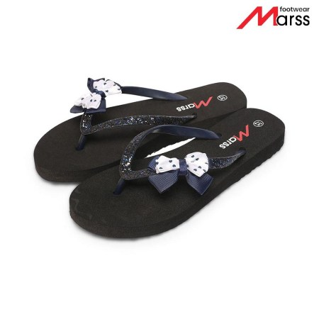 Blue Butterfly Flip-Flop Pairs For Women (MS 07)