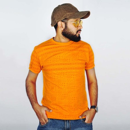 BJ Point Half Sleeve T-Shirt (BJ-OR019)