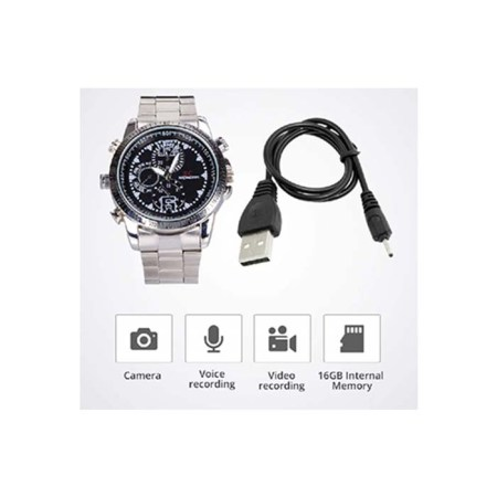 SPY Hidden Wrist Watch Camera with 8 gb inbuilt Memory Card hd Audio Video Recording