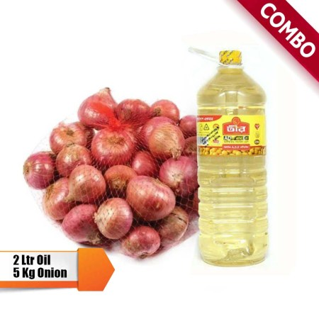 5 kg Onion & 2Ltr Soybean Oil free (Gift with Taka 3000's Shopping Not for Sale)