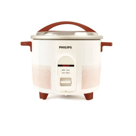Philips Electric Rice Cooker 2.2 Ltr (White Red)