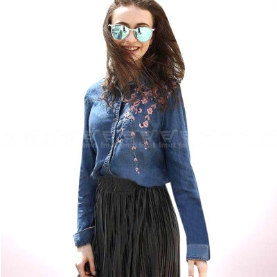 Long Sleeve Jeans Shirts for Ladies