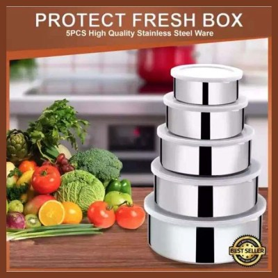Protect Fresh High Quality Stainless Steel Food Box- 5 Pieces