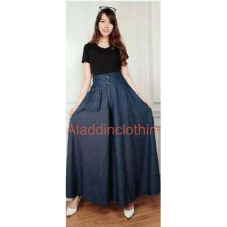 Denim Long Skirt Jeans with Stylist Tops (DN 21)