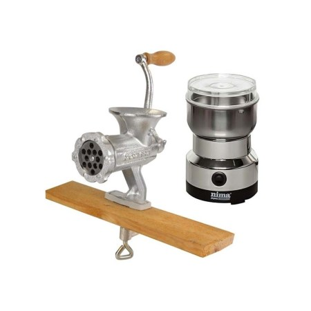 Meat Mincer & Electric Spice Grinder Combo