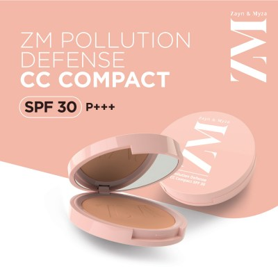 Zayn & Myza Pollution Defense CC With SPF 30 Compact -Natural Nude