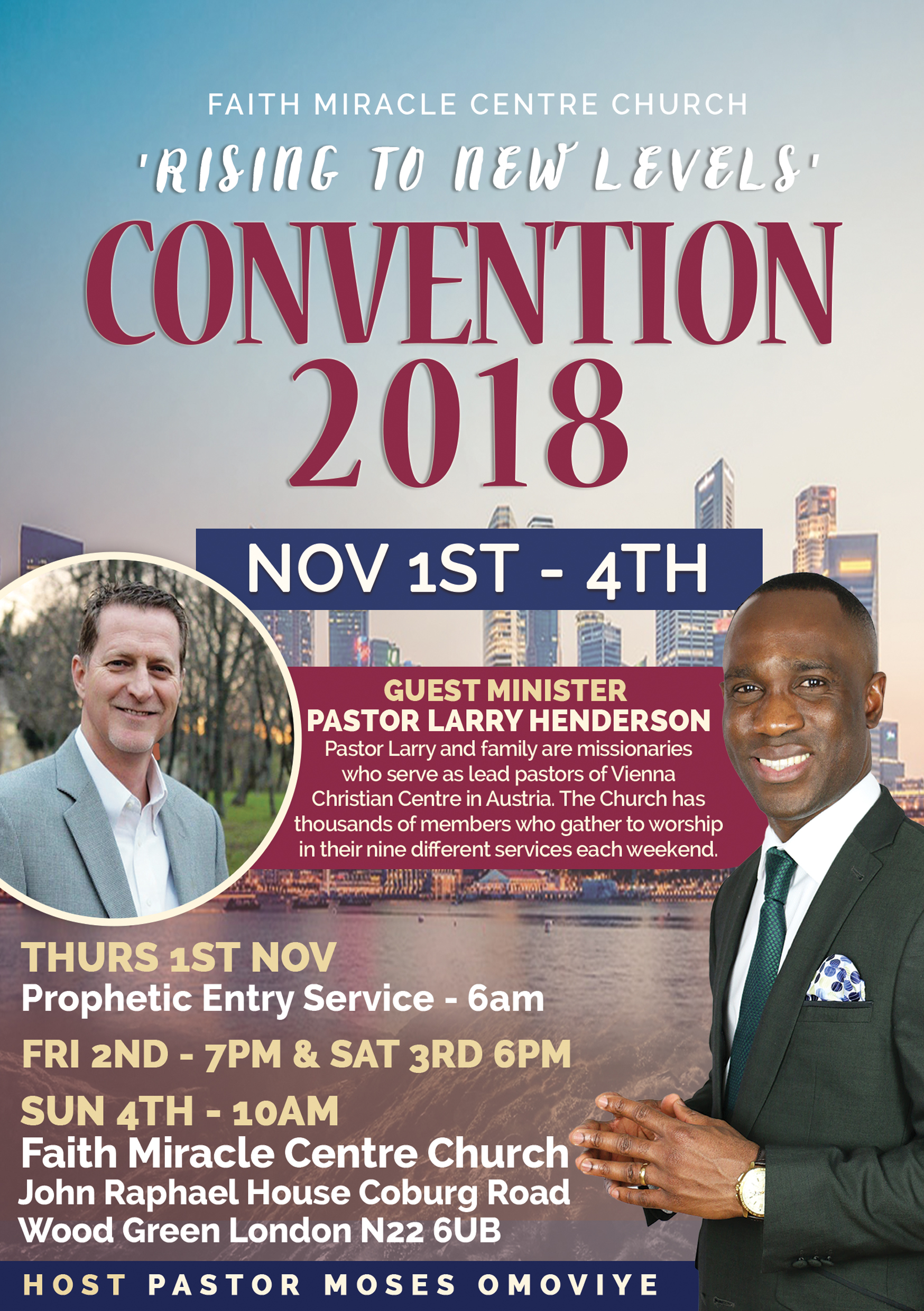 Pastor Moses Omoviye Convention 2018 Larry Henderson