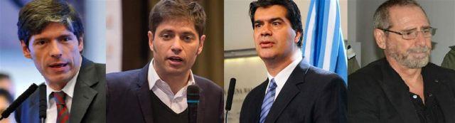 Axel Kicillof, Juan Manuel Abal Medina, Jorge Capitanich y Ricardo Jaime