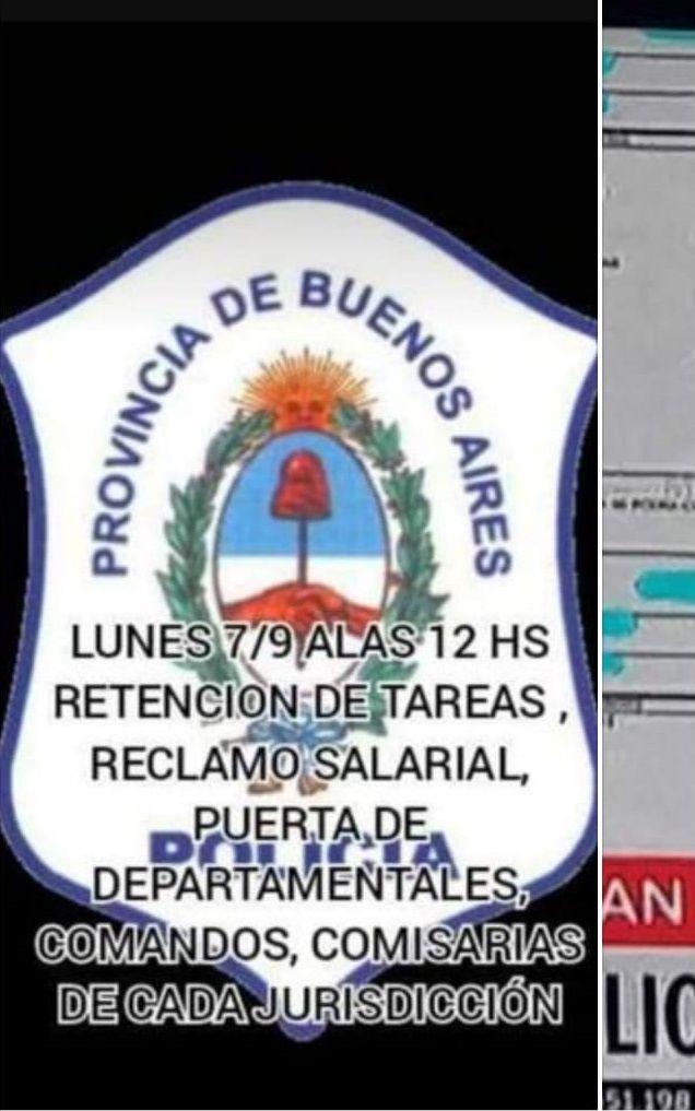 PARO DE POLICÍAS BONAERENSES