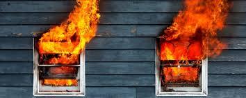 Incendio en el domicilio de una familia en Santa Lucía