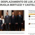 Unas 240 mil personas ya firmaron dos peticiones contra el desplazamiento de jueces que investigaron a Cristina Kirchner
