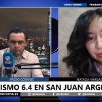 LA CADENA DE NOTICIAS BIO BIO ENTREVISTÓ A COSMOS FM POR EL FUERTE SISMO OCURRIDO ANOCHE