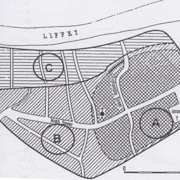 Anngret Simms, map of medieval Dublin (Simms, 1979)