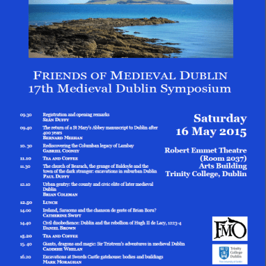 FMD Medieval Dublin Sympoisum Poster 2015