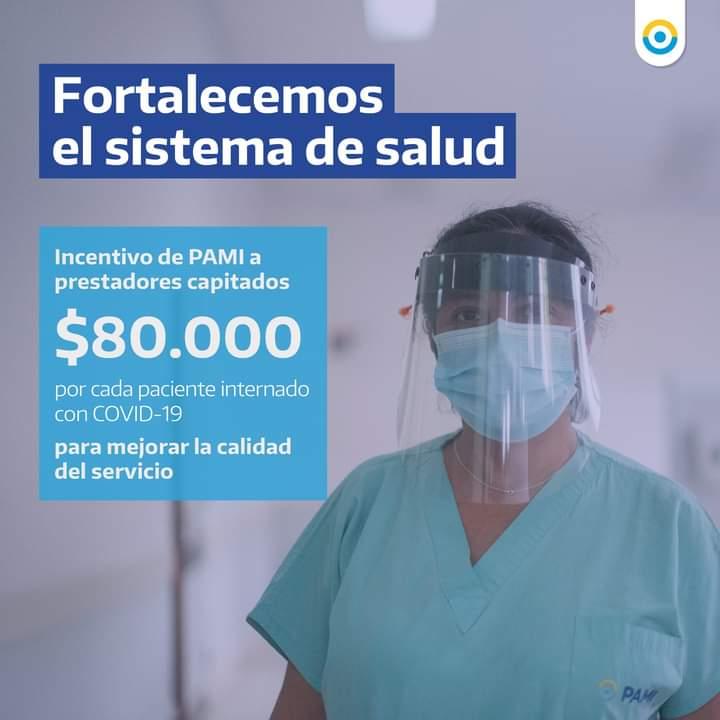 Coronavirus: PAMI pagará al hospital 80 mil pesos por cada afiliado internado por covid-19