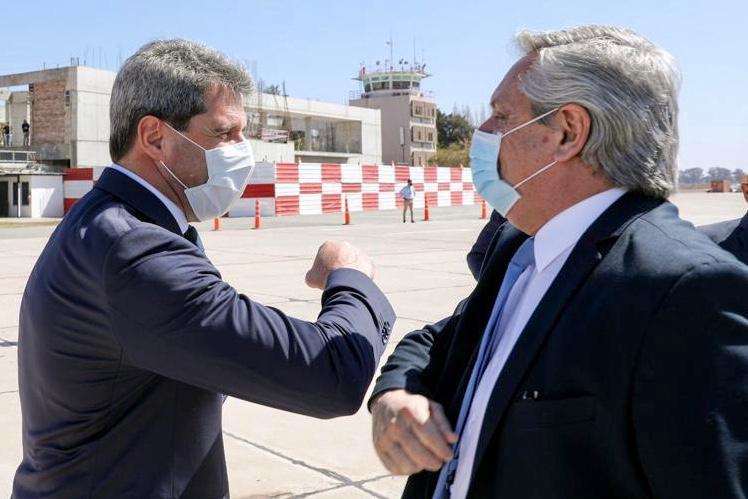 El presidente Fernández llegó a San Juan