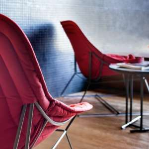 varaschin chaise lounge chapeau red