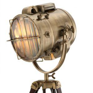 ATLANTIC BRASS brown Floor Lamp EICHHOLTZ