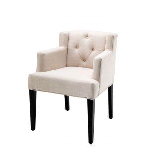 BOCA RATON ARM NATURAL Dining chair EICHHOLTZ