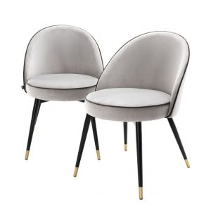COOPER SET OF 2 LIGHT GREY Dining chair EICHHOLTZ