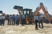 Successful CASE 570 tractor backhoe loader launch in Dubai