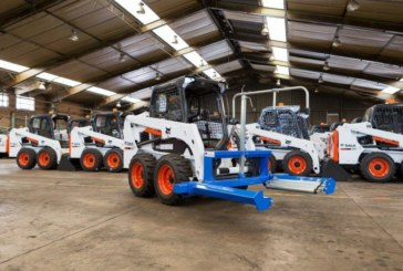 Tyre-handling is safe and easy with the latest Bobcat attachment   Tyre-handling