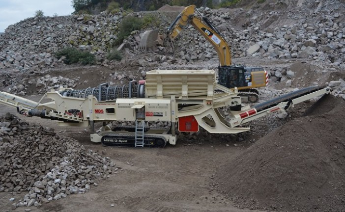 Blt rebrands to bltworld launch | BLTWORLD – MDS M515 trommel producing gabion rock