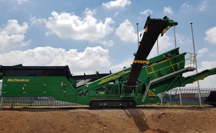 HPE Africa distributes McCloskey crushing and screening plants – S130 high energy screener