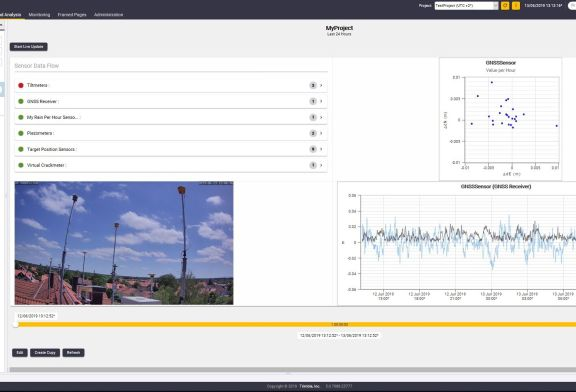 Trimble 4D Control Software Provides Greater Geotechnical Sensor Support