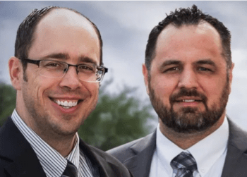 Estate planning and personal injury attorneys Jacob Fleming and Bob Monroe