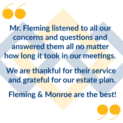 Contact Fleming & Monroe for your estate planning or personal injury law needs