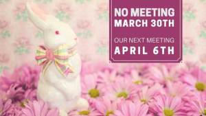 No Meeting March 30th