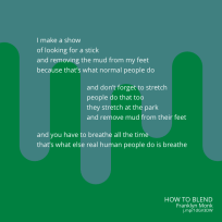 How to Blend, a poem by Franklyn Monk