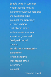 Summer, a poem by Franklyn Monk