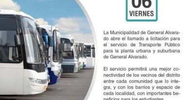 Llamado a licitación para el servicio de Transporte Público de Pasajeros