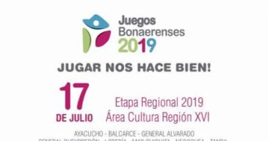 JUEGOS BONAERENSES 2019: Etapa Regional