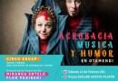 Acrobacia, música y humor en Otamendi