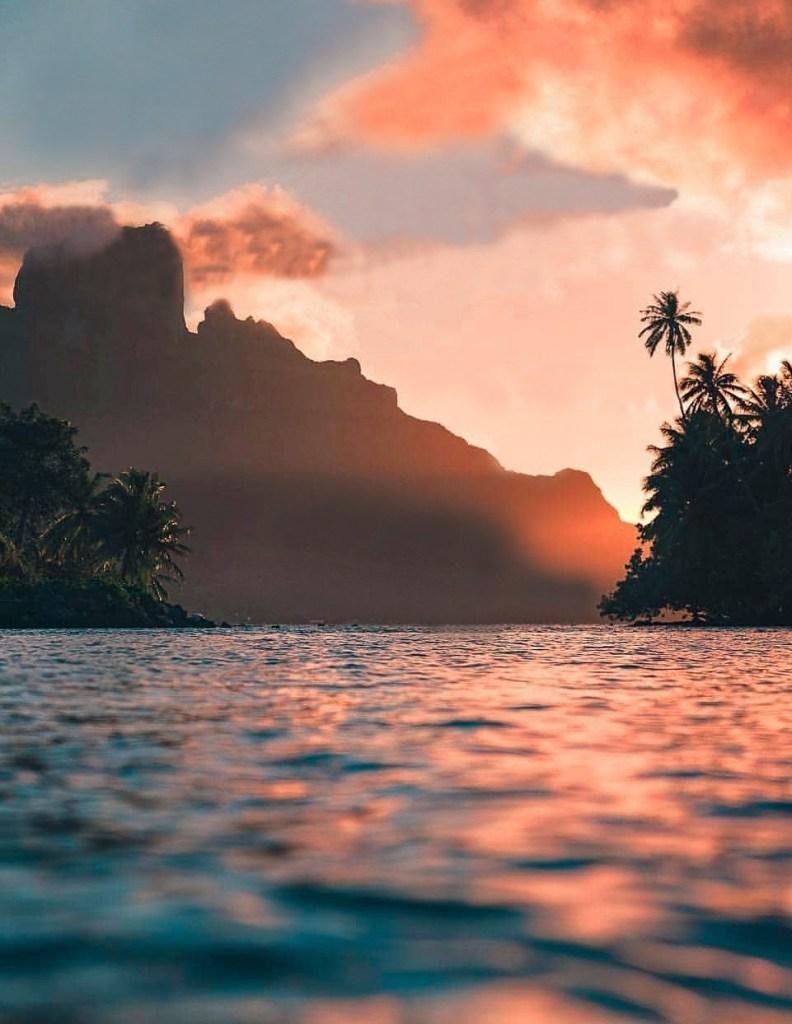 Blog Voyage Bora Bora sunset FMR travelblog