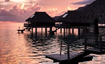 Hotel hilton Moorea coucher de soleil - FMR blog voyage