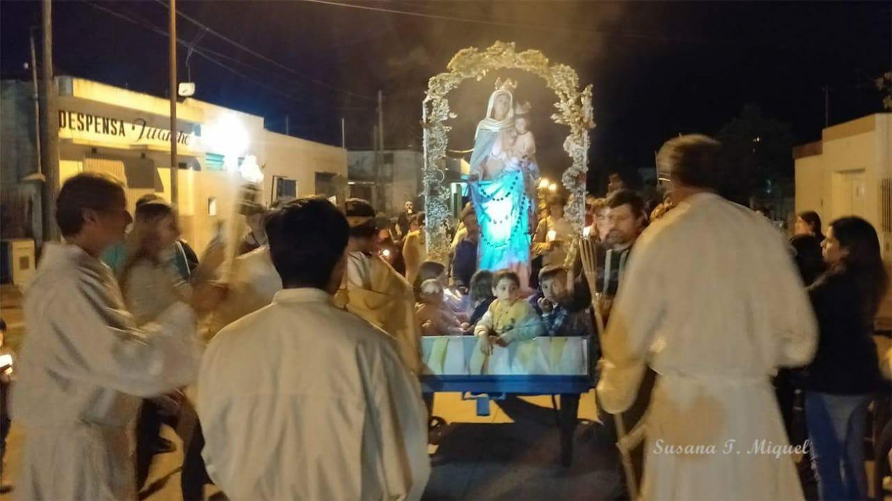 Actividades de la Parroquia San Vicente Pallotti con la Virgen de San Nicolás.
