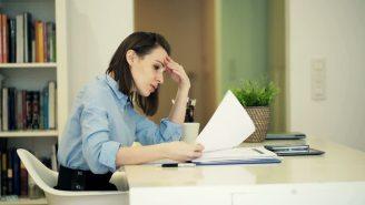businesswoman sad