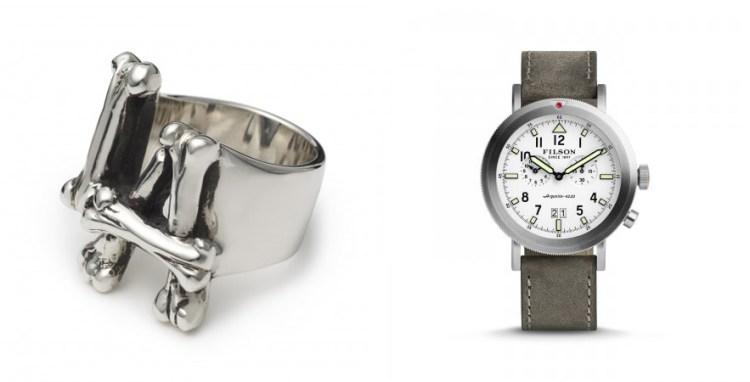 The Great Frog London - LA Bones Ring, £180 & Filson - Scout Watch, £560