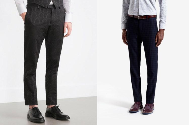 Zara - Jacquard Trouser, £39_99 & Ted Baker - Houndstooth Trouser, £119