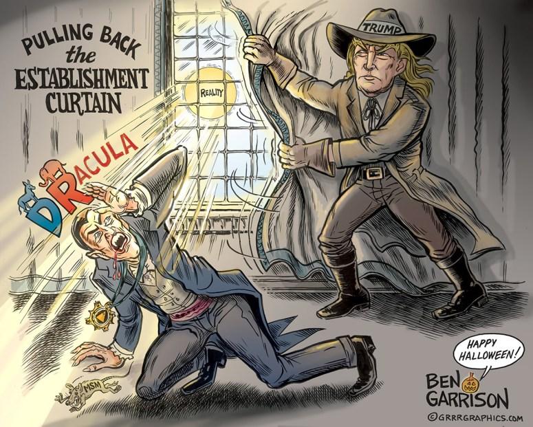 Trump as Van Helsing